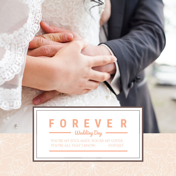 Forever Wedding Day Instagram Post Template